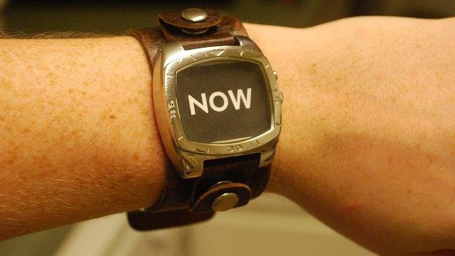 horloge nu now
